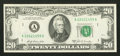 Error Notes:Ink Smears, Fr. 2068-A $20 1969A Federal Reserve Note. Extremely Fine-AboutUncirculated.. ...