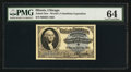 Miscellaneous:Other, World's Columbian Exposition Washington Ticket 1893 PMG ChoiceUncirculated 64.. ...