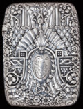 Silver Smalls:Match Safes, A GORHAM SILVER AND SILVER GILT MATCH SAFE, Providence, RhodeIsland, 1890. Marks: (lion-anchor-G), COPYRIGHTED 1889,STER...