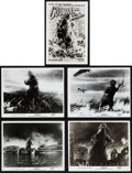 "Movie Posters:Science Fiction, Godzilla (Toho/Trans World, 1954/1956). Japanese Photos (5) (4.75""X 6.5""), Photos (9) (8"" X 10""), & Art Photo (6.5"" X 10"")....(Total: 15 Items)"
