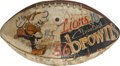 Football Collectibles:Balls, 1954 Cleveland Browns NFL Championship Game Used Football....