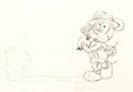 Animation Art:Production Drawing, Mickey's Surprise Party Mickey Mouse Animation Drawing (WaltDisney, 1939)....