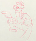 Animation Art:Production Drawing, Goofy and Wilbur Goofy Production Drawing (Walt Disney,1939)....