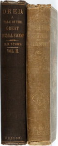 Books:Literature Pre-1900, Harriet Beecher Stowe. Dred; A Tale of the Great DismalSwamp, Vol. II. [and:] Uncle Tom's Cabin, Vol....(Total: 2 Items)
