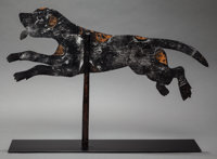 UNKNOWN Weathervane: Dog Metal 31 x 22 inches (78.7 x 55.9 cm)  FROM THE PROPERTY OF THE BE