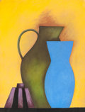 Fine Art - Work on Paper:Drawing, SUSIE PHILLIPS (American, b. 1949). The Blue Vase, 1995.Charcoal and pastel on paper. 50 x 38 inches (127 x 96.5 cm) (s...