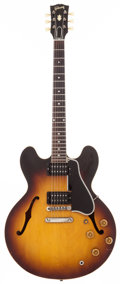 Musical Instruments:Electric Guitars, 1959 Gibson ES-335 Sunburst Semi-Hollow Body Electric Guitar,#A31589....