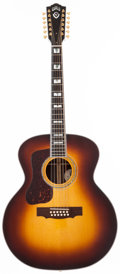Musical Instruments:Acoustic Guitars, 2013 Guild F-512 Sunburst Left-Handed 12 String Acoustic Guitar, #NQ322008....