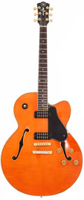 Musical Instruments:Electric Guitars, 2000 Yamaha AES 1500 Orange Semi-Hollow Body Electric Guitar,#SLJ1038....