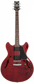 Musical Instruments:Electric Guitars, 1984 Ibanez AS-80 Cherry Semi-Hollow Body Electric Guitar,#H840844. ...