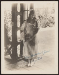 "Movie Posters:Comedy, Dorothy Gish by Sykes Studio Los Angeles (1922). Autographed Portrait Photo (7.5"" X 9.5""). Comedy.. ..."