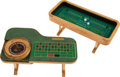 Movie/TV Memorabilia:Props, A Frank Sinatra Pair of Miniature Gaming Tables, Circa 1950s....(Total: 4 Items)