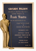 Movie/TV Memorabilia:Memorabilia, A Frank Sinatra Special Invitation, 1979....