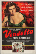 "Movie Posters:Crime, Vendetta (RKO, 1950). One Sheet (27"" X 41"") & Lobby Cards (3)(11"" X 14""). Crime.. ... (Total: 4 Items)"