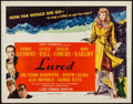 """Movie Posters:Mystery, Lured (United Artists, 1947). Half Sheet (22"""" X 28"""") Style B. Mystery.. ..."""