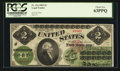 Large Size:Legal Tender Notes, Fr. 41a $2 1862 Legal Tender PCGS Choice New 63PPQ.. ...