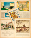 Books:Prints & Leaves, Group of Five Pages from Wieland Magazine. Circa 1915. Pages feature several German Color Lithographs. Measures ...