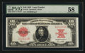 Large Size:Legal Tender Notes, Fr. 123 $10 1923 Legal Tender PMG Choice About Uncirculated 58.....