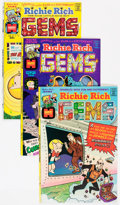Bronze Age (1970-1979):Humor, Richie Rich Gems #1-43 Complete Series Group (Harvey, 1974-82)Condition: Average VF/NM.... (Total: 43 Comic Books)