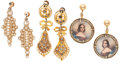 Estate Jewelry:Lots, Diamond, Seed Pearl, Mother-of-Pearl, Gold, Gold-Filled Earrings . ... (Total: 3 Items)