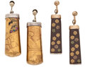 Estate Jewelry:Lots, Lacquer, Wood, Mother-of-Pearl, Enamel, Silver, Silver-Gilt Jewelry. ... (Total: 2 Items)