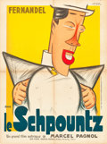 """Movie Posters:Comedy, Heartbeat (Les Films Marcel Pagnol, 1938). French Affiche (23.5"""" X31.5""""). French Title: Le Schpountz.. ..."""