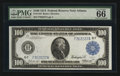 Large Size:Federal Reserve Notes, Fr. 1104 $100 1914 Federal Reserve Note PMG Gem Uncirculated 66 EPQ.. ...