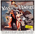 "Movie Posters:Horror, Kiss of the Vampire (Universal, 1963). Six Sheet (80"" X 81""). Horror.. ..."
