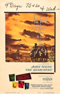 "Movie Posters:Western, The Searchers (Warner Brothers, 1956). Window Card (14"" X 22"")....."