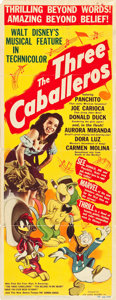 "Movie Posters:Animation, The Three Caballeros (RKO, 1945). Insert (14"" X 36""). Animation....."