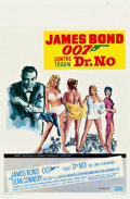 "Movie Posters:James Bond, Dr. No (United Artists, R-1970). Belgian (14"" X 21"").. ..."
