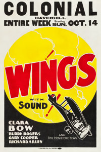 """Wings (Paramount, R-1928). One Sheet (30"""" X 45"""")"""