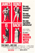 "Movie Posters:James Bond, From Russia with Love (United Artists, 1964). One Sheet (27"" X 41"")Style B. James Bond.. ..."