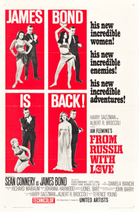 """From Russia with Love (United Artists, 1964). One Sheet (27"""" X 41"""") Style B. James Bond"""