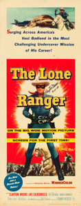 "Movie Posters:Western, The Lone Ranger (Warner Brothers, 1956). Autographed Insert (14"" X 36"").. ..."