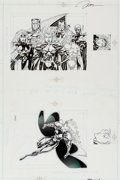 Original Comic Art:Illustrations, Jim Lee X-Men Trading Cards Series I - X-Men Team/Storm Original Art (Marvel-Impel, 1992)....