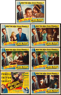 """Murder, My Sweet (RKO, 1944). Title Lobby Card and Lobby Cards (6) (11"""" X 14""""). ... (Total: 7 Items)"""