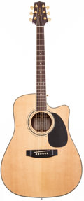 Musical Instruments:Acoustic Guitars, 1990's Takamine EG-334SC Natural Acoustic Electric Guitar, #QJP157152....