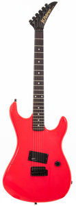 Musical Instruments:Electric Guitars, 1980's Kramer Aerostar ZX10 Hot Pink Solid Body Electric Guitar,#N/A....