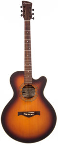 Musical Instruments:Acoustic Guitars, 1980 Charvel 625C Sunburst Acoustic Electric Guitar, #007718....