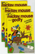 Bronze Age (1970-1979):Cartoon Character, Mickey Mouse Mickey Mouse and Goofy Explore Energy (Exxon, 1976)Condition: Average VF.... (Total: 17 Comic Books)