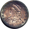 Bust Quarters: , 1815 25C MS65 NGC. B-1, the only known dies, R.1. Die State II. Following a delivery of 220,643 pieces in 1807, the Philade...