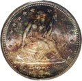 Seated Quarters: , 1876-S 25C MS65 PCGS. Type Two Reverse. All letters in STATES arewidely separated. A gorgeous Gem with satiny luster benea...