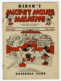 Mickey Mouse Magazine V1#6 (Walt Disney Productions, 1934) Condition: VG