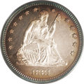 Proof Seated Quarters: , 1881 25C PR64 Cameo PCGS. The 8s in the date are lightly repunchedwithin the loops. The borders have purple, magenta, gold...