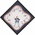 Music Memorabilia:Memorabilia, Elvis Presley Framed Handkerchief. Elvis-themed handkerchief, circa1956, with a picture of the King and titles from some of... (Total:1 Item)