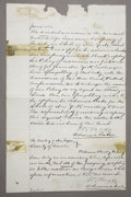 Western Expansion:Cowboy, LINCOLN COUNTY WARS DOCUMENT SIGNED BY SHERIFF WILLIAM BRADY KILLEDBY BILLY THE KID 1876 - The Lincoln County War was a 19t...