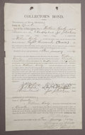 Western Expansion:Cowboy, LINCOLN COUNTY WAR - KILLED BY BILLY THE KID, SHERIFF WILLIAM BRADY'S $8000 BOND, LINCOLN CO., NM. 1877 - William Brady, law...