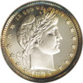 Proof Barber Quarters: , 1895 25C PR68 Cameo NGC. An absolutely extraordinary proof type coin that has been left to tone naturally over the past cen...