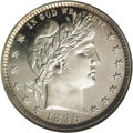 Proof Barber Quarters: , 1896 25C PR65 Cameo NGC. Sharp design details and exquisite Cameo contrast are the parameters that sets this example apart ...
